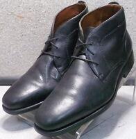 152921 PFBT40 Men's Shoes Size 9.5 M Black Leather Lace up Boots Johnston Murphy