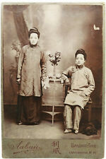 1890 Russia - CABINET CARD PHOTGRAPH - Chinese Women with Bound Feet