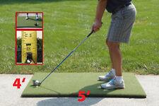 """4'x5'  Duffer™ Commercial Golf Mat 1.25"""" thick made 4 golf - no cheap white foam"""