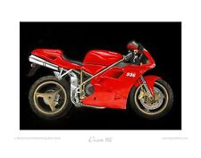 Motorcycle Limited Edition Print - Ducati 996 -Art Poster by Steve Dunn