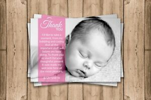 Personalised thank you cards BABY boy girl birth  inc free envelopes FREE P&P
