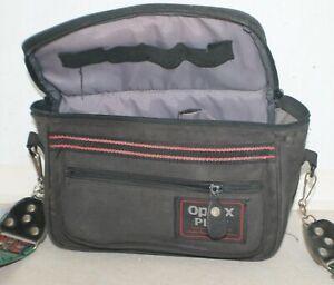 Optex plus camera bag for SLR/DSLR. L: 27 cm; Ht: 17 cm; Dpth: 13 cm. VGC