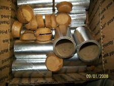 """16- FIREWORKS PYRO Cardboard Tubes Shiny Silver 1-1/4"""" x 3"""" x 1/8"""""""