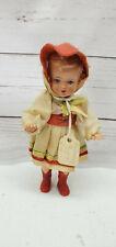 "Plasticbaby Preh Werke GmbH 5"" Celluloid Jointed German Girl Doll Blue Eyes"