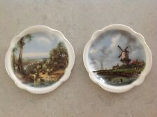 Myott England Decorative Mini Plates Set of 2, 3.25 appx, Windmill and River