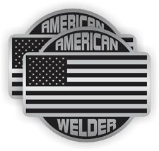 (2) American WELDER Hard Hat Stickers | Labels Decals Welding Motorcycle Helmet