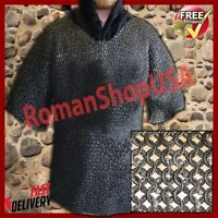 Round Riveted Flat Washer Chain Mail Shirt Large Size Chainmail Hauberk 16 Gauge