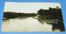 RPPC West Lafayette Ohio Tuscarawas River View Photo Postcard