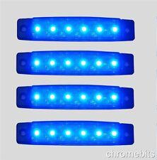4 pezzi 24V LED BLU Lampadina Luce posizione laterale Camion Rimorchio