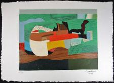 Max PAPART, Color Carborundum Gravure, Hommage a Picasso I, Estate Proof #'d