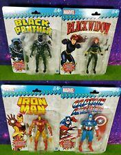 "Marvel Legends 6"" Retro Lot Captain America Iron Man Black Panther Widow"