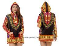 Femme Traditionnel Africain Imprimé Dashiki Robe Soirée Veste Haut Robe Chemise