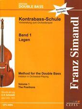 Franz Simandl Kontrabass-Schule Teil I Band 1 Die Lagen Noten Revidierte Ausgabe