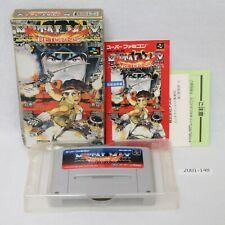 Nintendo SNES METAL MAX RETURNS w/box Working SFC Games Japan 2001-148