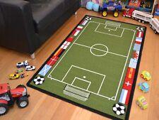 Small Extra Large Boys Kids Football Pitch Machine Washable Anti-Slip Floor Rugs