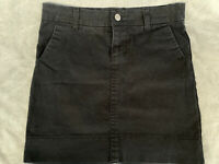Dickies Perfectly Slimming Denim Skirt Women's Size 0 Stretch Black