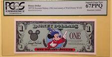 1997A $1 Sorcerer Disney Dollar Graded By PCGS Superb Gem New 67PPQ, A00232606A