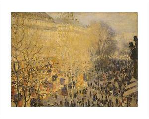 Monet - Boulevard des Capucines Paris - fine art print poster various sizes