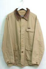 MARLBORO CLASSICS mens beige with brown leather collar vintage coat jacket XL