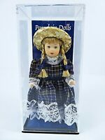 Miniature Porcelain Doll Country Girl By Latina Gift 4 Inch In Plastic Case