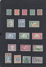 JAMAICA 1938 PICTORIAL SET COMPLETE TO £1 SG.121-133A LIGHTLY MOUNTED MINT