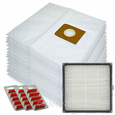 15 Cloth Bags + H13 HEPA Filter for Nilfisk King 500 Series Vacuum + Fresheners