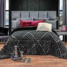 Black reversible Comforter Luxury Bedding Blanket thick soft wadding Full Jumbo