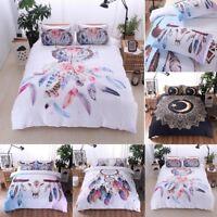 Duvet Quilt Cover Bed Bedding Set Single Double Queen King Size Pillow Case Hot