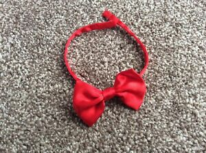 Vintage Bear Factory Boy Red Bow Tie Fits Build A Bear
