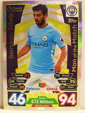 Match Attax 2017/18 Premier League - #407 Bernardo Silva - Man of the Match