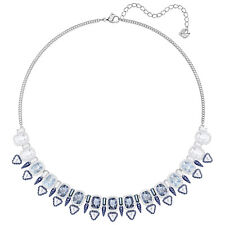 Lake Large Necklace Blue Multi-colored Rhodium 2018 Swarovski Jewelry 5368456