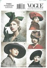VOGUE 7464 SEWING PATTERN VINTAGE HATS 1930's 1940's STYLE NEW UNCUT