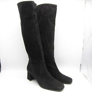 "Stuart Weitzman US 9 M Women Knee High Boots 2.75"" Heel Suede 18"" Tall 14"" Calf"