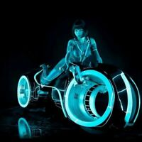Tron Legacy Motorcycle Girl Art Fabric Poster Wall Decor HD Print 24x24 INCH