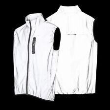 Men Running Gilet Cycling Vest Night High Visibility Coat Waterproof Windbreaker