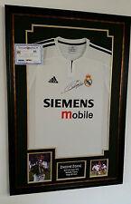 *** Rare ZINEDINE ZIDANE of Real Madrid Signed Shirt Display ***