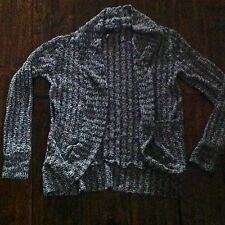 FULL TILT BY TILLYS GIRLS WOMENS CARDIGAN SWEATER XS BLACK WHITE LONG SLEEVES