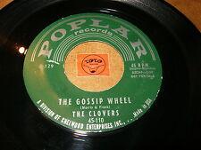 THE CLOVERS - THE GOSSIP WHEEL - PLEASE COME ON TO ME / LISTEN - DOO WOP POPCORN