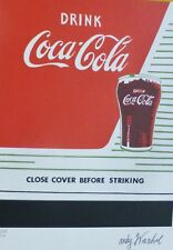 ANDY WARHOL DRINK COCA COLA COKE SIGNED & HAND NUMBERED 2528/5000 LITHOGRAPH