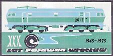 POLAND 1975 Matchbox Label - Cat.A#051 XXX lat PAFAWAG Wrocław, Railway electric