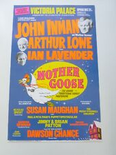 More details for john inman arthur lowe ian lavender mother goose london pantomime poster 1981