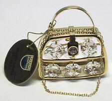 G 3816 Purse Gold Handtasche Swarovski Steine Kristall 24 Karat Crystal 7 cm