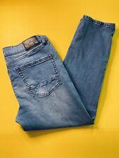 Mens INC International Concepts Blue Denim Stretch Skinny Tapered Jeans 34W 30L