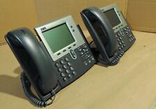 SIP Cisco 7940 phone CP-7940G with SIP Firmware w/Handset. 2 year warnty Real