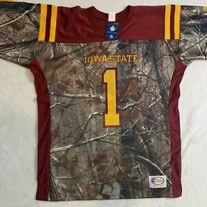 Iowa State Cyclones Football Jersey Mens Size Large Realtree Camo Red Gold