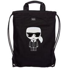 Karl Lagerfeld backpack women k/ikonik 20KW201W3090 Black gold glitter - Orange