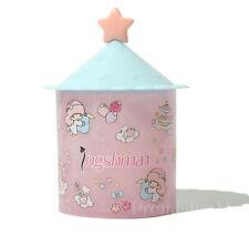 Little Twin Stars Cosmetic Case Box Clear Q-tip Storage Case Cotton Pad Swab Box