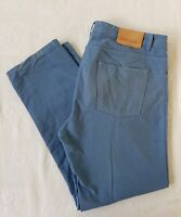 JOSEPH TURNER YORKSHIRE Men's Blue Regular Fit Cotton Trousers. Size W38s × L30.
