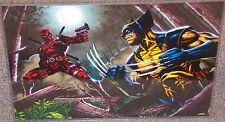 X-Men Deadpool vs Wolverine Glossy Art Print 11 x 17 In Hard Plastic Sleeve