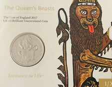 2017 RM Queen's Beasts Lion Of England Brilliant Unc £5 In Original Sealed Pack